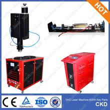 YAG laser cutting machine main parts/ laser head, laser power, laser generator and water cooling chiller