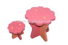 Eva flor mesa e cadeira