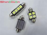 hot sell festoon 4smd 31MM 33mm 39mm 41mm led canbus lamp T10 car leds festoon light 4SMD 5050chip