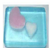 Heart to heart illuminates the transparent scented soap (wzLSRTHB001)