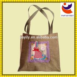 factory sale easter bunny gunny sack bag style hemp bags
