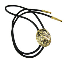 3D Gold Brass Bolo Tie With Lanyard, Fashion Shirt Bolo Tie Necklace