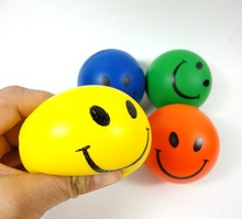 branded pu smiley face stress ball