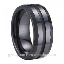 New Black Ceramic Ring, Men's and Women's Ceramic Wedding Ring