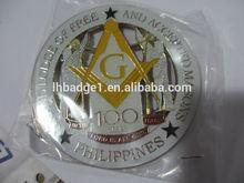 Customized metal masonic car emblems wholesale