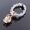 Os-br-1296 strass owl pendentif fermoir magnétique bracelet magnétique bracelet chine