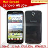 big screen mobile phone mtk 6582m 1.3ghz quad core1gb ram 4gb rom 5.5inch lenovo a850