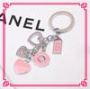 2014 Fashion New Alloy Enamel Pink Heart Custom Promotion Metal Key Ring