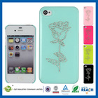 C&T Stand rose hard shell protetor diamond crystal case cover for iphone 4