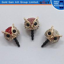 Hot Sale Cute Owl Dustproof Earphone Plug For Cell Phone 3.5mm Dustproof Jack Plug