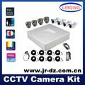 Nuevo 2014 8ch d1 cámara cctv sistema de seguridad, pcs 8 800 tvl cámaras y 8ch d1 en tiempo real dvr