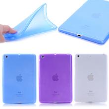 Tpu Rubber Jelly Gel Skin Case Back Cover for Apple iPad mini 2