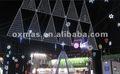 triangular de metal led luces de la decoración del árbol de navidad