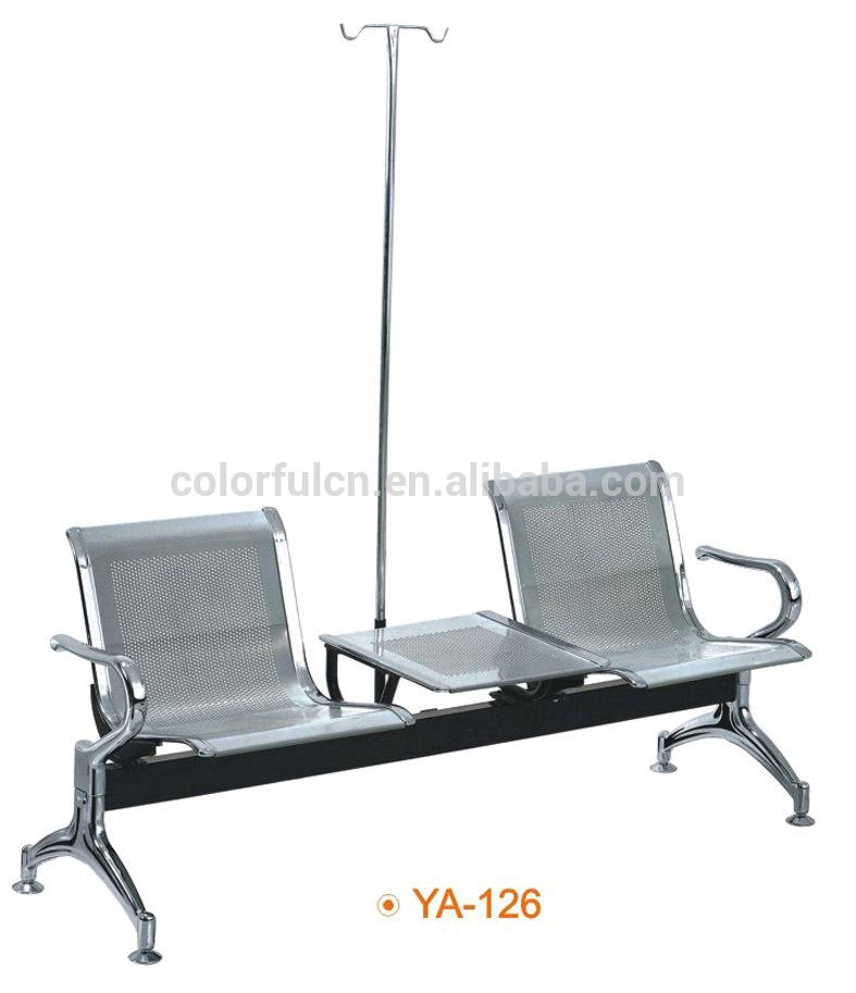 Rumah Sakit Kursi Ruang Tunggu Stainless Steel Kursi YA