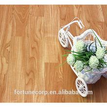 Heterogeneous commercial wood grain PVC flooring in roll