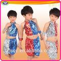 crianças paillette estágio roupas modernas street dance performance traje por atacado