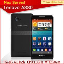 Lenovo A880 MTK6582 6.0 inch 1.3GHz 1g ram 8g rom quad core-CPU dual sim 3G GPS smart mobile phone