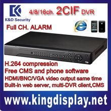 Dahua DVR DVR0404LF-L 2CIF 1.5U DVR DVR0804LF-L/DVR1604LF-L free DMSS software 16 CH. LOOP