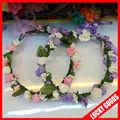 rose et violet clair de mariage fleur décorative couronne de cheveux fille