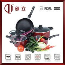 Non-stick decal enamel cookware set