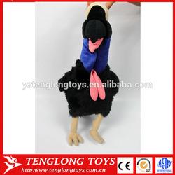 Ugly plush bird toy black stuffed bird toy bird toy custom plush toy