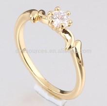 2014 18k plated wedding rings wholesale price/bright diamonds rings price with zircon stone c7m038