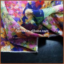 fabbrica diretta custom fantasia floreale style pittura a olio digitale stampata poli dupioni tessuto online