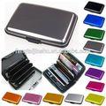 el ratón sobre la imagen para zoom caliente cartera de negocios de crédito id titular de la tarjeta de bolsillo de metal de aluminio caso de la caja