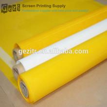 Gezi ( factory offer) 7T- 165T 18mesh-420mesh white or yellow plain weave silk screenprinting supplies