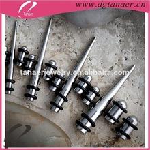 ingrosso body piercing gioielli in acciaio inox orecchio stretching