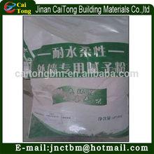pó branco com base de cimento wall putty para paredes externas