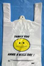 Plastic biodegradable T-shirt bag