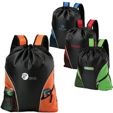 210D Polyester Drawstring Cinch Backpack