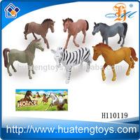 H110119 6pcs plastic animal toys horse pony toys vinyl horse toys set mare