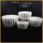 hotsale new design white ceramic flower pot