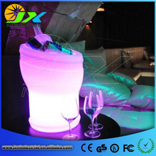 JXY Factory Wholesale PE material rechargeable led ice cube bucket