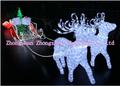 llevó la luz hasta santa renos trineo de decoraciones de navidad