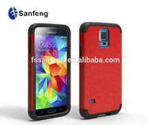 2014 Wholesale Fashion Dot Design Slim Armor Protective Case For Galaxy S5 Samsung S5 Hybrid