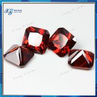 11x11mm garnet inverted square cz cubic zirconia natural rough ruby topaz stone price/ jamaica stone