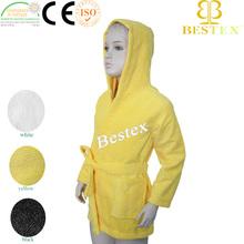 Custom Cheap Microfiber Terry cloth Hooded Bathrobes for kids