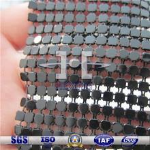 6mm Black Aluminum Metallic Cloth for Tables/Dresses