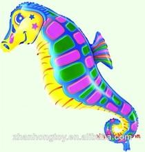 sea horse shape foil mylar balloons