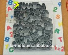 Acciaio di taglio della muffa/stampa morire/frutta/sushi modalità/26 inglese lettere cookie muffa + 9 numeri