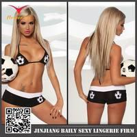 Hot Sale Popular Fussball Micro Bikini With Football Emble And Sexy Sportswear's Bikini And Sexy Bra For Women