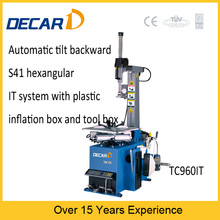 automatic tire changer with quick inflation for low-profile tire