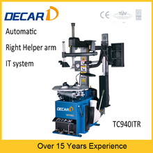 automatic tilt backward used tire changer machine with quick inflation and right helper