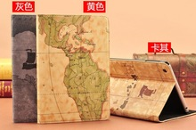 New Design For iPad Air Case/Custom World Map Leather Case For iPad Air&iPad 5