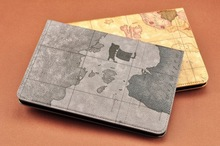 Hot,leather map case for apple ipad 2 3 4 smart cover