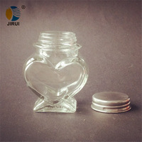 Small Glass Bottles With Corks Heart Shape, glass candy jar, glass candy bottles