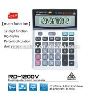 desktop calendar calculator 12 digits calculator 1200V solar calulator office calculator